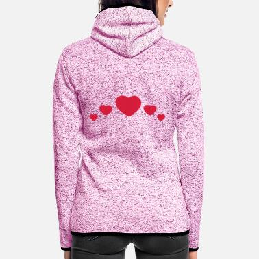 Serce love - Frauen Fleece Kapuzenjacke