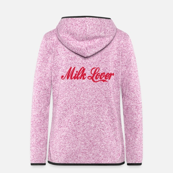 Birthday Jackets - milk lover - Women's Hooded Fleece Jacket purple heather