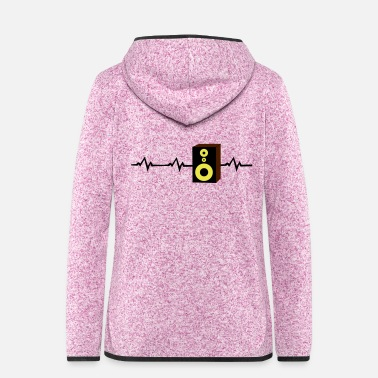 Monitoring heartbeat monitor studio speakers - Women's Hooded Fleece Jacket