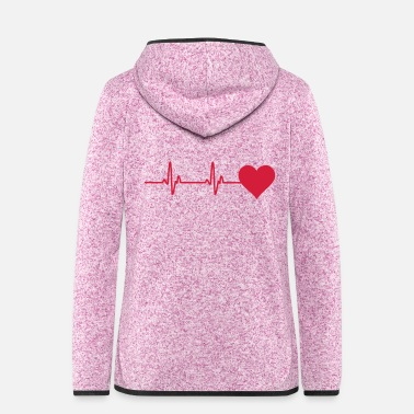 Monitoring heartbeat monitor - Women's Hooded Fleece Jacket