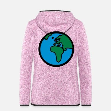 Cartography World Globe - Women's Hooded Fleece Jacket