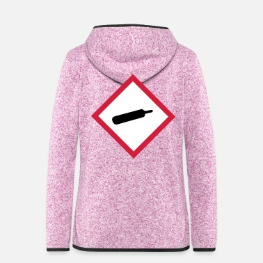 Gas gase - Frauen Fleece Kapuzenjacke