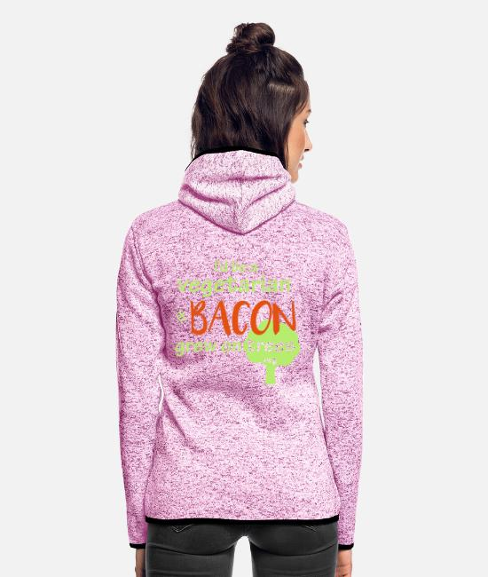 Pigs Jacken - Bacon Lovers - Frauen Fleece Kapuzenjacke Lila meliert