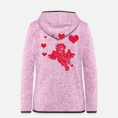 Cupido Cupid with Hearts Bow and Arrow - Women's Hooded Fleece Jacket