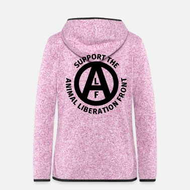 Animal Rights Activists Animal Liberation Front - Women's Hooded Fleece Jacket