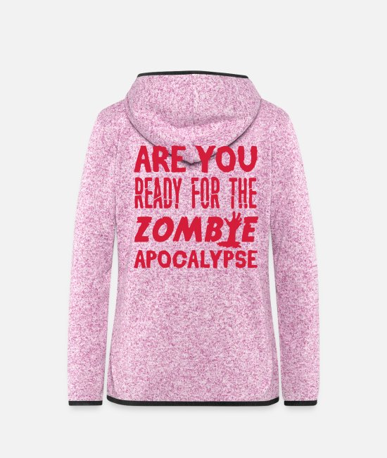 Horror Jackets - Zombie Apocalypse - Women's Hooded Fleece Jacket purple heather
