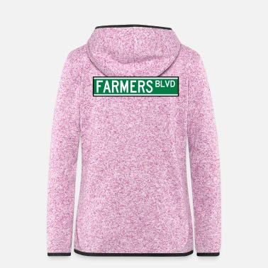Nyc FARMERS BLVD SIGN - Veste à capuche polaire Femme