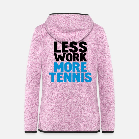 Tennis Jacken - less work more tennis - Frauen Fleece Kapuzenjacke Lila meliert