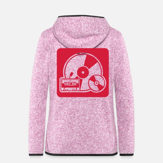Cassette Jackets - Retro Sound - Women's Hooded Fleece Jacket purple heather