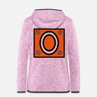 Frame Symbol O with ornament in the frame - Women's Hooded Fleece Jacket