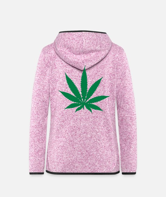 Drugs Jacken - Cannabis - Hanf - Frauen Fleece Kapuzenjacke Lila meliert