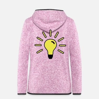 Light light, light bulb, electricity, energy, light, - Women's Hooded Fleece Jacket