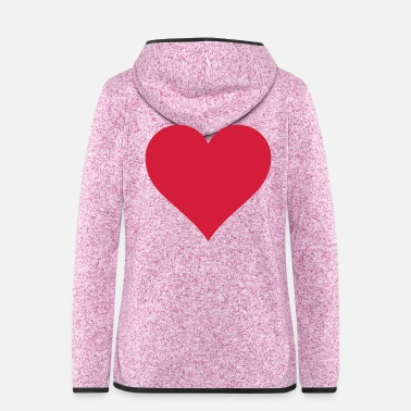 Cuore Heart - Heart - coeur - cuore - corazón - hard - Women's Hooded Fleece Jacket