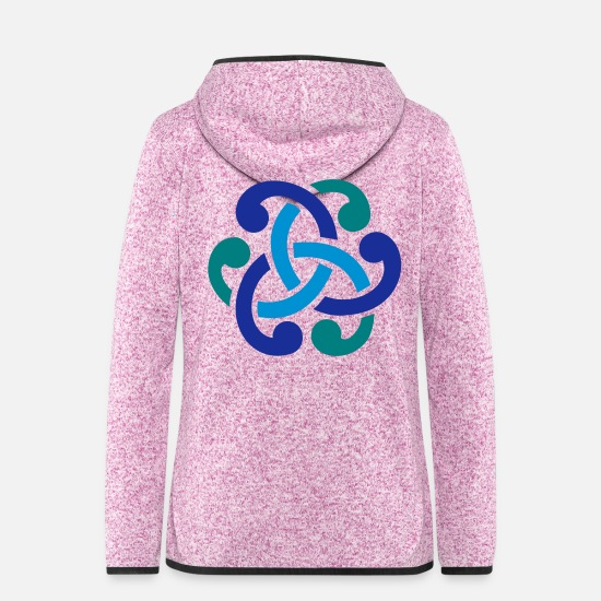 Celtic Jackets - Celtic knot - Women's Hooded Fleece Jacket purple heather