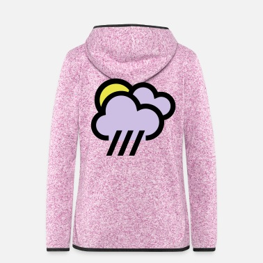 Cloudy cloudy with chills icon weather icon - Women's Hooded Fleece Jacket