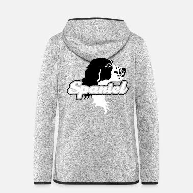 Wingshooter the_spaniel_head - Women's Hooded Fleece Jacket