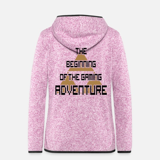 Geschenkidee Jacken & Westen - Retro Gaming beginning Triforce Konsole - Frauen Fleece Kapuzenjacke Lila meliert