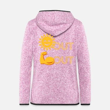 Out Suns Out Guns Out EmojI - Women's Hooded Fleece Jacket