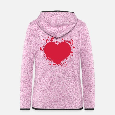 Cuore cuore coração corazón Herz love heart love - Women's Hooded Fleece Jacket