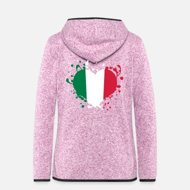 Cuore heart flag italy italia cuore bandiera games - Women's Hooded Fleece Jacket