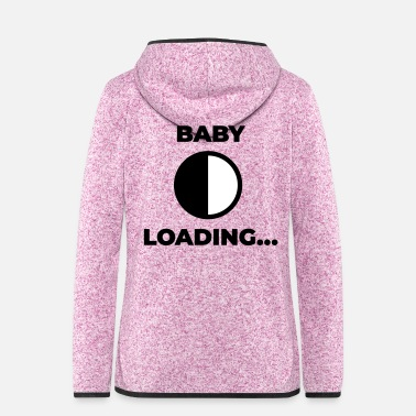 Baby baby loading - Frauen Fleece Kapuzenjacke