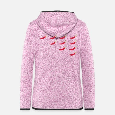 Heat Chilli Pepper Heat Guide - Women's Hooded Fleece Jacket