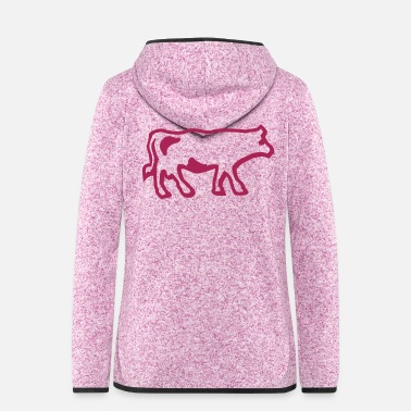 Wealth EnTrois Lettres - Women's Hooded Fleece Jacket