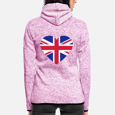Uk Underwear Heart Britain - Women's Hooded Fleece Jacket