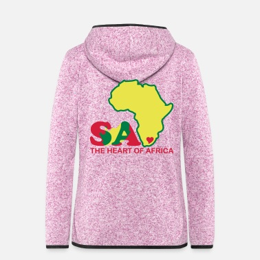 South Africa South Africa - The Heart Of Africa - Women's Hooded Fleece Jacket