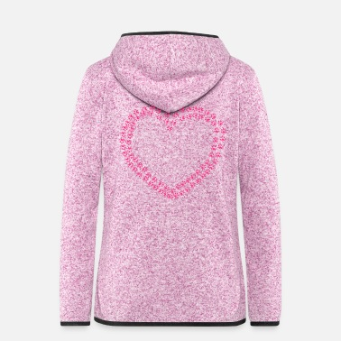 Paw Heart of Paws - Women's Hooded Fleece Jacket