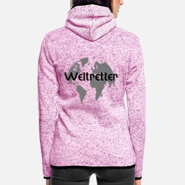 Model World Savior Weltenretter - Women's Hooded Fleece Jacket