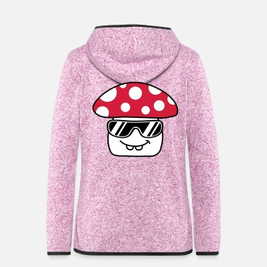 Fungal Cool Mushroom - Women's Hooded Fleece Jacket
