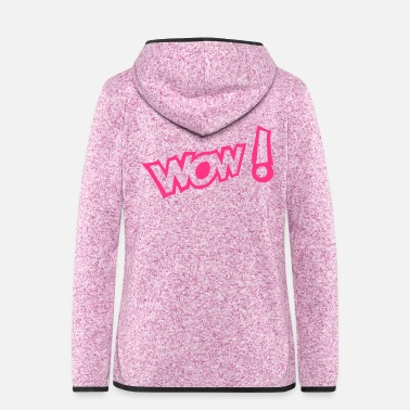 Expression Wow exclamation expression - Women's Hooded Fleece Jacket