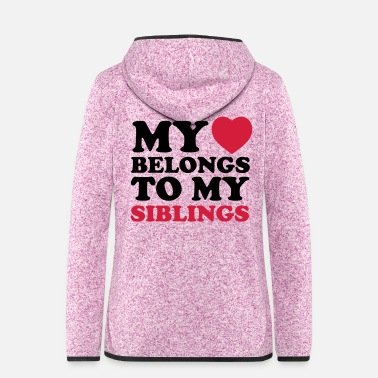 Siblings MHBTM siblings - Women's Hooded Fleece Jacket