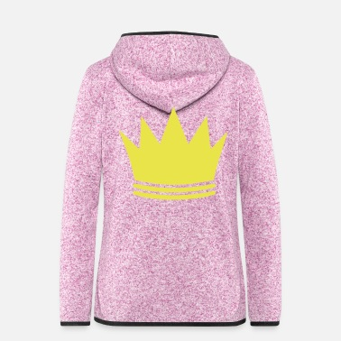 crown symbol - Women's Hooded Fleece Jacket