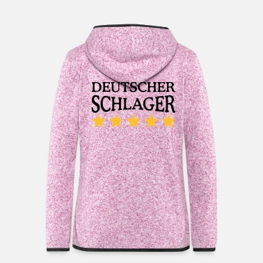 German German Schlager German pop music - Women's Hooded Fleece Jacket