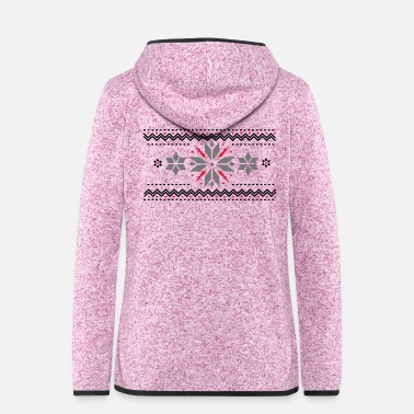 Star pattern in the Norwegian style - Women's Hooded Fleece Jacket