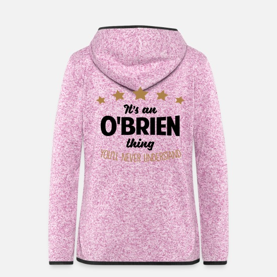 Never Jackets - It's an obrien name thing stars never und - Women's Hooded Fleece Jacket purple heather