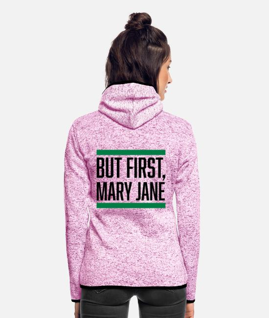 Rasta Jacken - BUT FIRST,MARY JANE - Frauen Fleece Kapuzenjacke Lila meliert