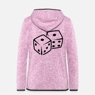 Cubes dices - Frauen Fleece Kapuzenjacke