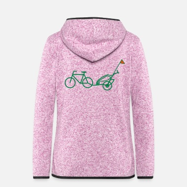 Wimpel Bike Trailer - Frauen Fleece Kapuzenjacke