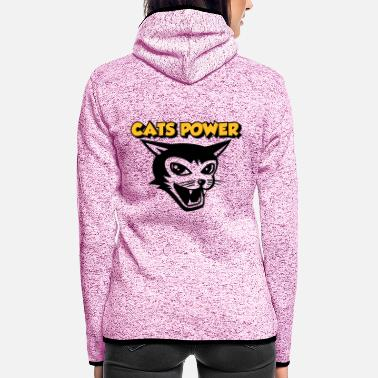 cats power 01 - Women's Hooded Fleece Jacket