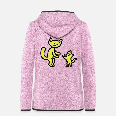 Large Large and small cat - Women's Hooded Fleece Jacket