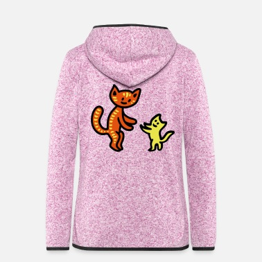 Large Large and small cat 3 - Women's Hooded Fleece Jacket