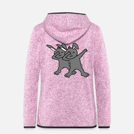 Small Jackets - 2 friends team couple dub dab dance dabbing move d - Women's Hooded Fleece Jacket purple heather