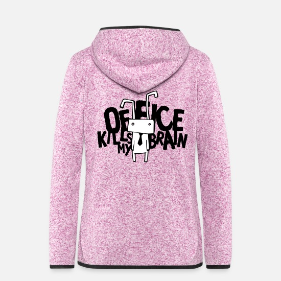 Ironie Jacken - Office kills my brain - Frauen Fleece Kapuzenjacke Lila meliert