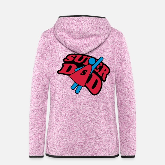 Super Jackets - Super Dad - Women's Hooded Fleece Jacket purple heather