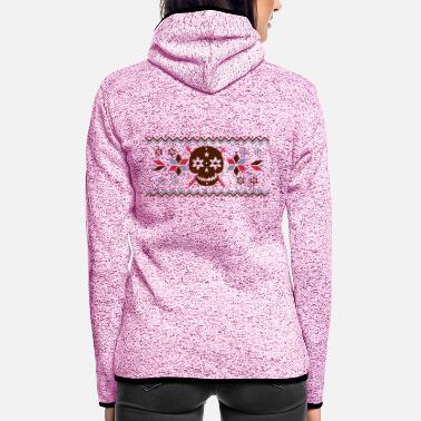 Pattern Skull pattern in the Norwegian style - Women's Hooded Fleece Jacket