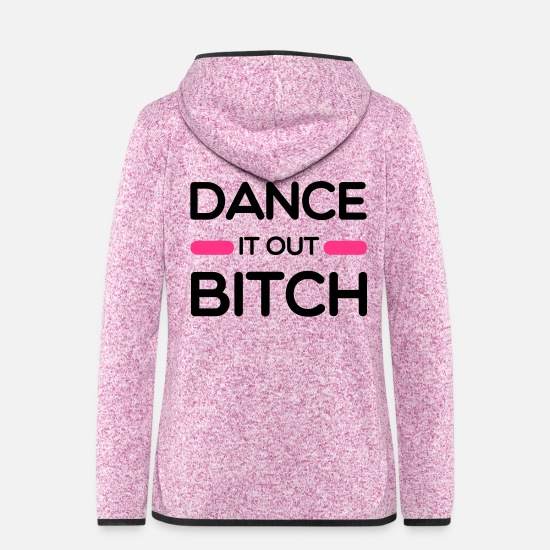 Dancing Jackets - Dance - Women's Hooded Fleece Jacket purple heather
