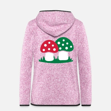 Grass Toadstools in the grass - Women's Hooded Fleece Jacket